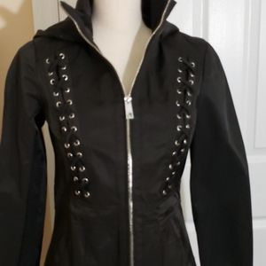 GUESS HOODED TRENCHCOAT